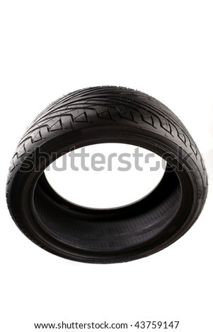 Tire isolated over white background