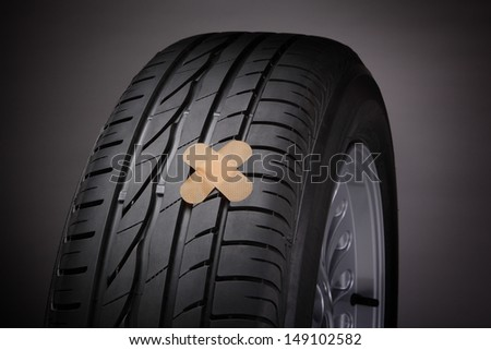 Tire repair (concept) - stock photo