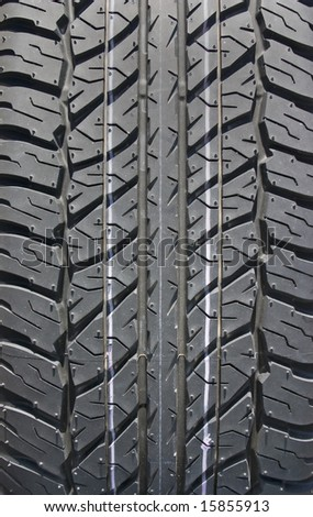 Tire thread texture for background - stock photo