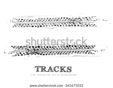Tire tracks background - stock photo