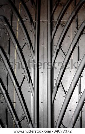 Tire tread pattern - stock photo