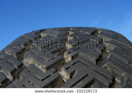 tire tyre profile close up - stock photo