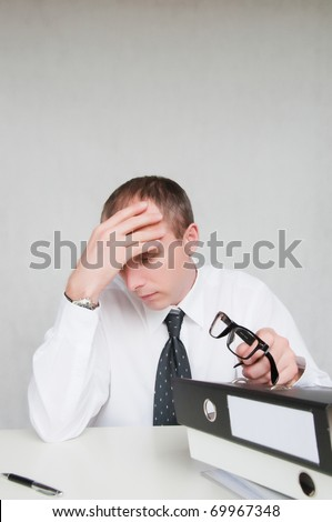 tired businessman - stock photo