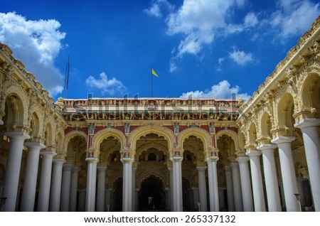 Tirumalai Nayak Palace. Madurai, Tamil Nadu, India - stock photo