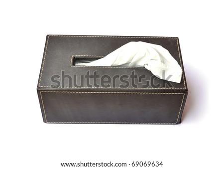 tissue box - stock photo