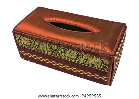 Tissue box isolated on white - stock photo