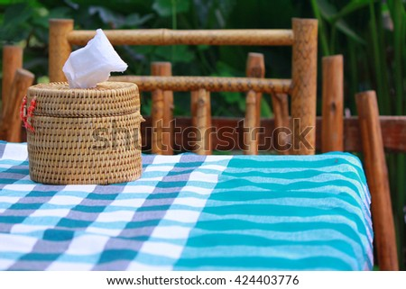 Tissue on Table