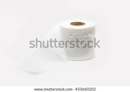 Tissue paper on white background