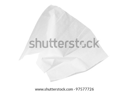 Tissue Paper on White Background - stock photo