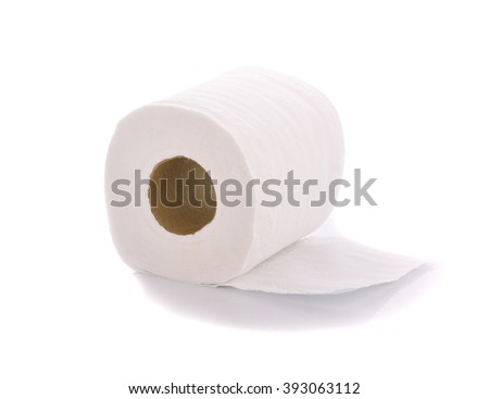 tissue Roll  on white  background