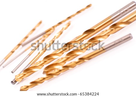 Titanium Coated Industrial Strength Drill Bit - stock photo