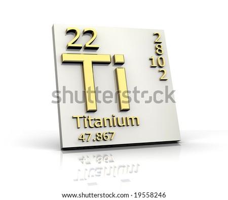 Titanium form Periodic Table of Elements - stock photo