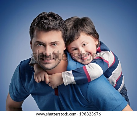 To and son for Father's Day - stock photo