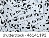 """To be or not to be? """"Questions"""" series - stock photo"""