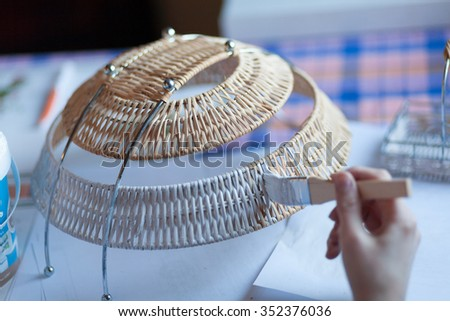 to decorate the basket - stock photo