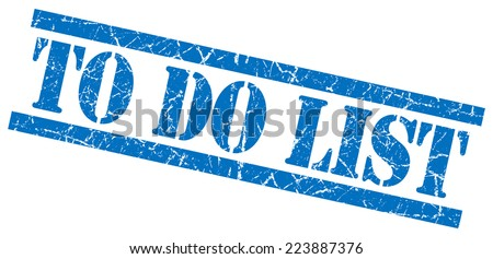 to do list blue square grunge textured isolated stamp - stock photo