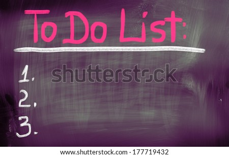 To Do List Concept - stock photo