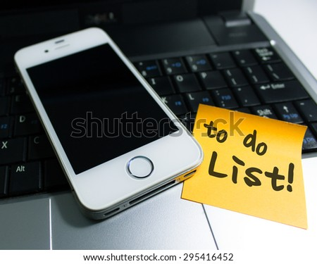 To do list concept on sticky notes - stock photo