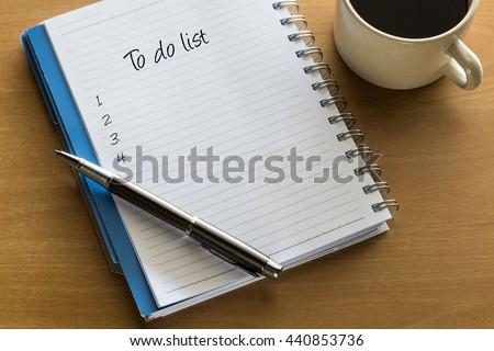 To do list conceptual - stock photo