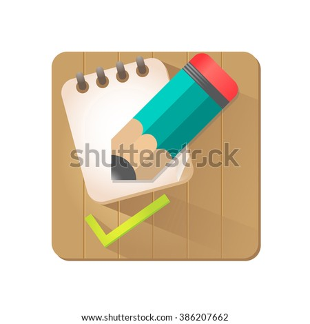 To do list icon. Illustration. Check list. Flat style design. - stock photo