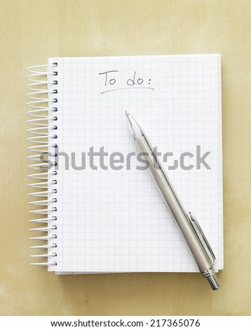 To do list notebook - stock photo
