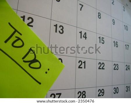 To Do List on a calendar. - stock photo
