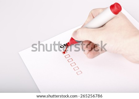To Do list or checklist with check marks isolated on white - stock photo