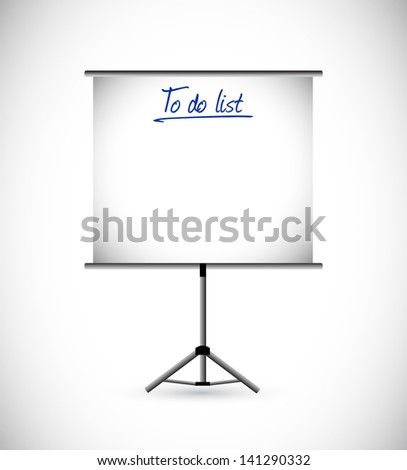 to do list presentation illustration design over a white background - stock photo