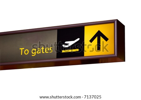 To gates sign