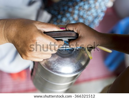 To live is to share - stock photo