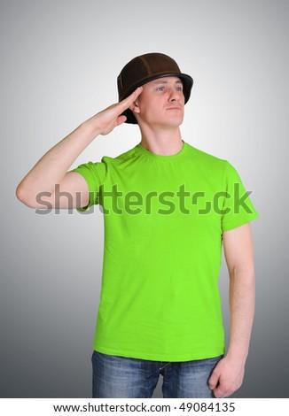 To Salute - stock photo