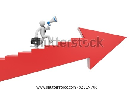 To success. Image contain clipping path - stock photo
