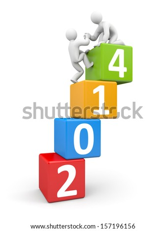 To the new year - stock photo