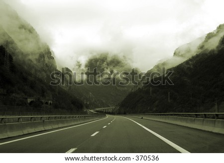 To the tunnel - stock photo