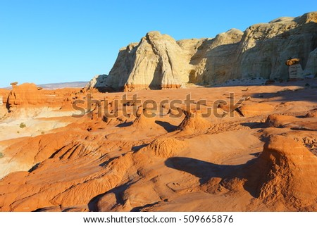 toadstool hoodoos or paria rimrocks, utah, united states