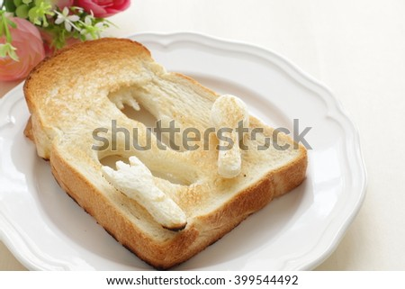 toast and Mascarpone cheese