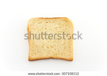 Toast bread  isolated on white.