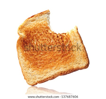 Toast bread on a white background - stock photo