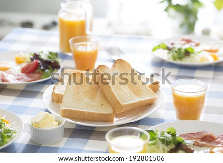 Toast delicious to eat in the breakfast