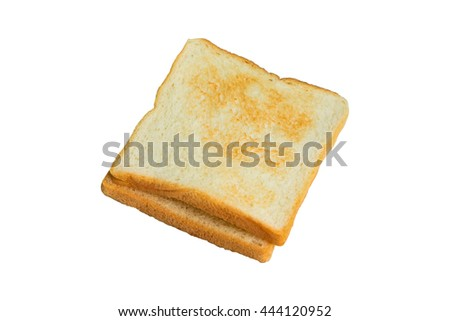 Toast isolated on white background, top view. - stock photo