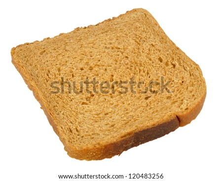 toast rye bread isolated on white background