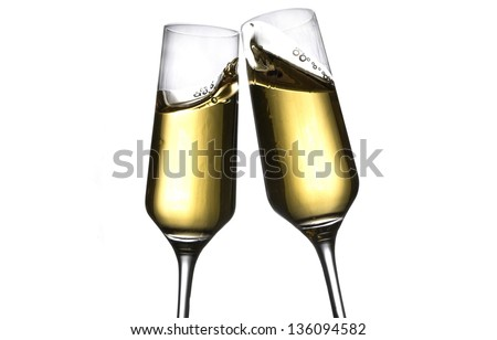 toast with champagne - stock photo