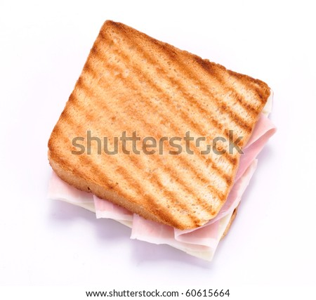 Toast with ham and cheese
