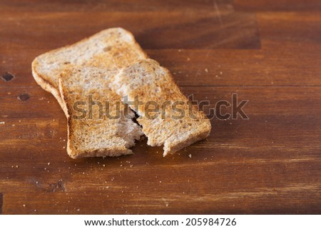 Toastbrot gebrochen - stock photo