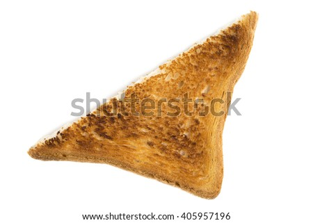 Toasted bread. Isolated on a white background. - stock photo