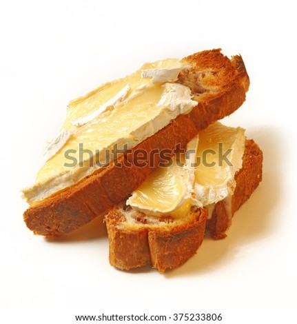 toasted bread slice with brie