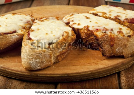 Toasted Cheese and Garlic Bread