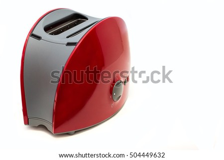 Toaster for bread isolated on white background, Kitchen equipment