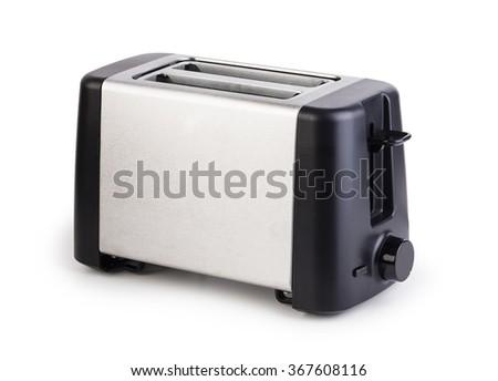 Toaster isolated on white background - stock photo