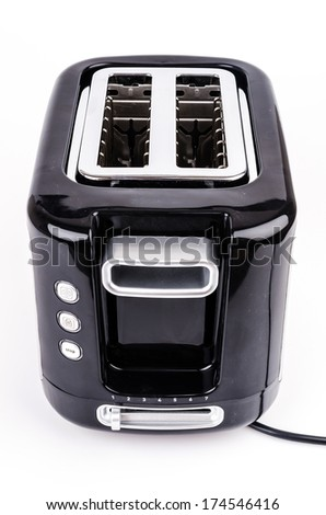Toaster on isolated white background - stock photo